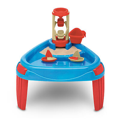 American Plastic Toys Kids Sand and Water Wheel Play Table Outdoor Yard Play