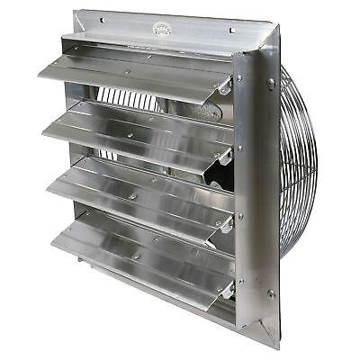 Industrial Exhaust Fan 16 In. Select Speed Shutter Wall Mount Garage Ventilator