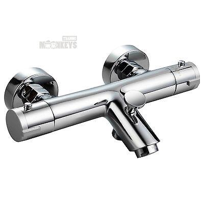 Thermostat Wannen Armatur Mischbatterie Dusche und Bad mit Wasserspar-Funktion