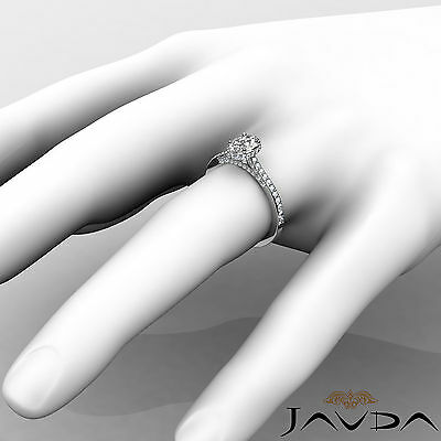 Circa Halo Pave Set Oval Diamond Engagement Ring GIA D Color SI1 Clarity 1.15Ct 4
