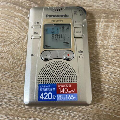 Panasonic RR-QR400 IC Recorder Digital Voice/ Audio Recorder Handheld Device
