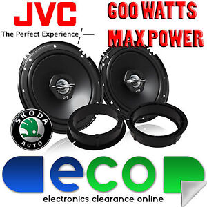Skoda Fabia 1999-2006 JVC 17cm 6.5 Inch 600 Watts 2 Way Front Door Car Speakers