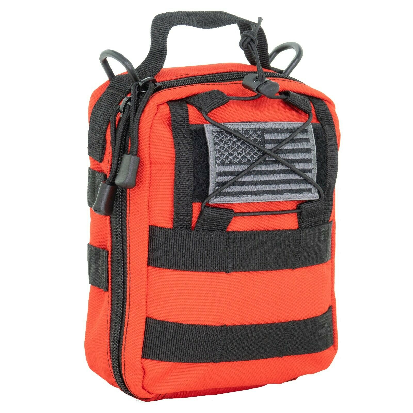 Best NEW LINE2DESIGN FIRST AID (IFAK) MOLLE POUCH - EMERGENCY MEDICAL TRAUMA BAG - RED