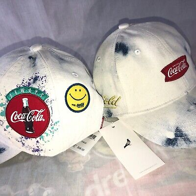 Staple Pigeon x Coca-Cola Adjustable Strap Back Patchwork Men's Hat Cap NWT