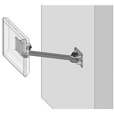 "Kitchen Display System Wall Mount +15"" Arm+ VESA Screen Pan +Tilt Head PN 80050 Vesa Display Mount"