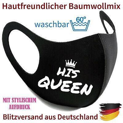 Mundmaske Nasenmaske Gesichtsmaske Fashion Mask His Queen waschbar 60°