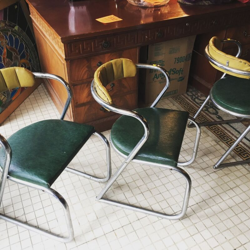 Art Deco Pair Of Chairs 1940s All Original