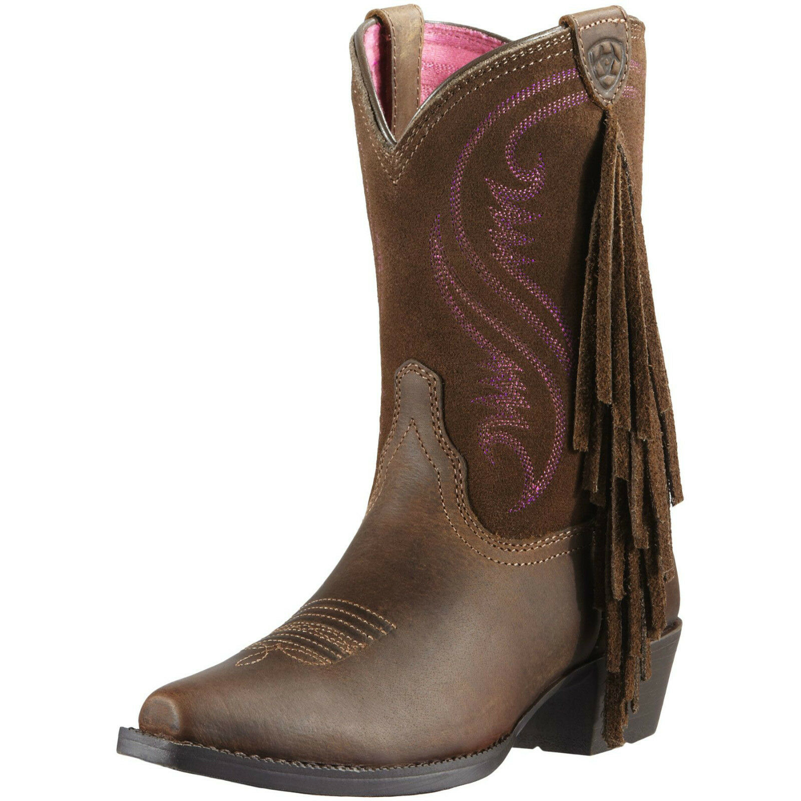 ARIAT YOUTH GIRLS FANCY FRINGE SNIP TOE COWGIRL COWBOY WESTE