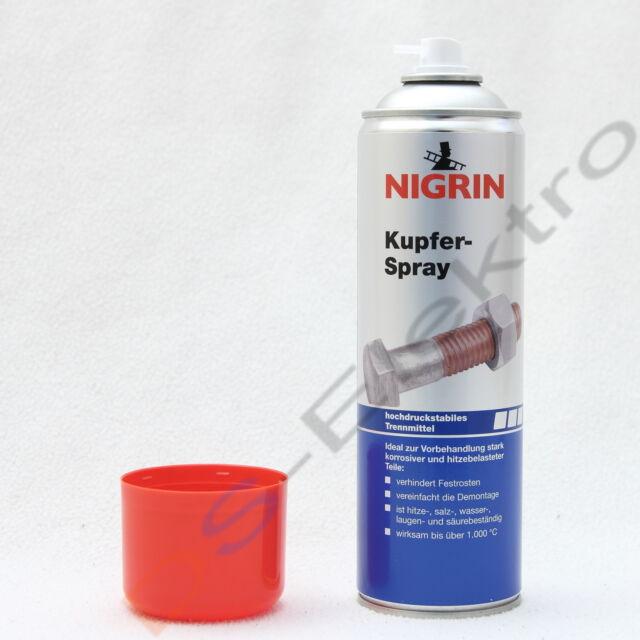 (16,90€/L) 3x Nigrin Kupferspray 500ml Sprühdose = 1500ml - No. 72261