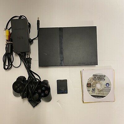 Sony PlayStation 2 PS2 Slim Console Black Lot w/5 Games System Bundle Controller