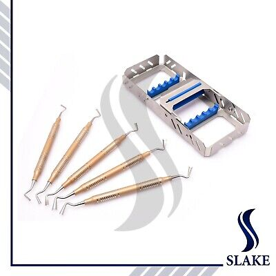 Dental Implant Gingival Retraction Gingival Retractor 5 Pcs Set With Cassette Ce