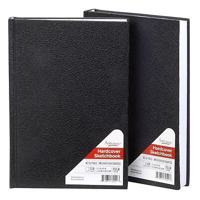 Artlicious - 2 Hardcover Sketch Books Hardbound Value Pads -