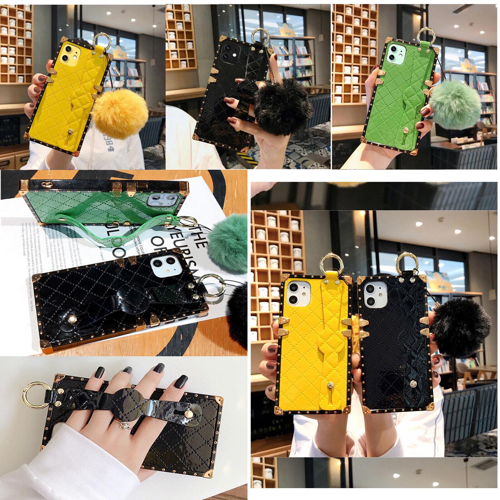For iPhone 11promax Xr 7/8P Glitter gold Lattice wrist strap
