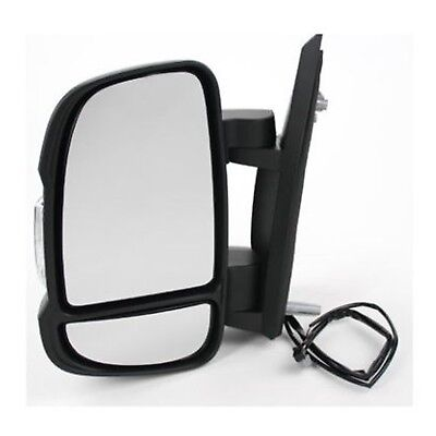 Peugeot Boxer 2006  Door Wing Mirror Manual Short Arm Black NS Passenger Left