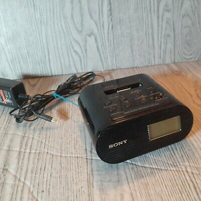 Sony ICF-C05IP iPhone iPod Clock Radio Alarm Speaker Dock W/ Lighting Adapter