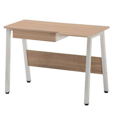 Computer Desk PC Table Wood Workstation Home Office Furniture Drawer Adjust Pad