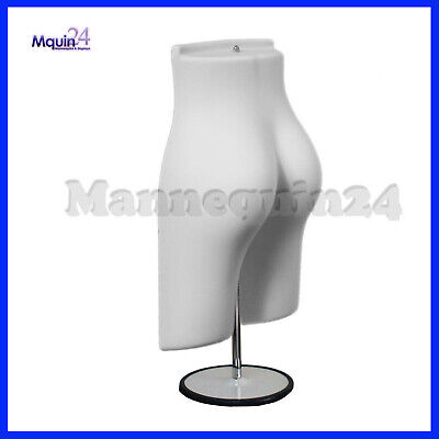 White Mannequin Female Butt Form With 1 Stand 1 Hanger - Plastic Dress Form