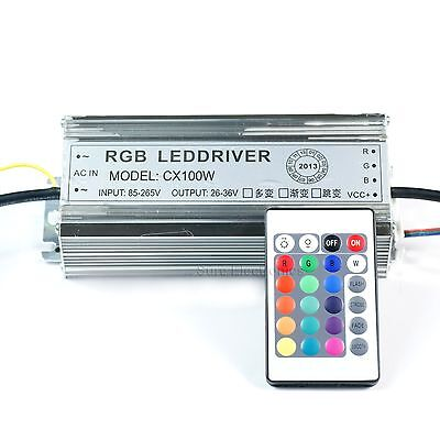 100w Watt High Power Rgb Led Driver Ac85v-265v Waterproof Power Supply For Led
