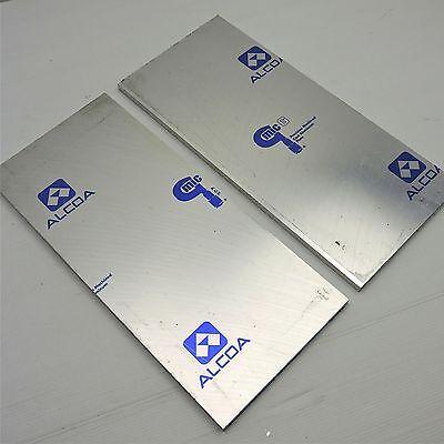 .375 Thick Cast Aluminum Mic-6 Alcoa Plate 7.25 X 17.625 Qty 2 Sku 174914