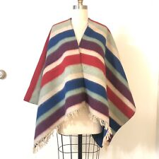 Oro Import Fighting Rooster Mexican Poncho Gaban Blanket Cape Ruana Traditional Tribal