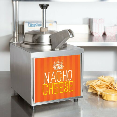 3.5 Qt. Electric Countertop Nacho Cheese Sauce Warmer Pump Dispenser - 120V