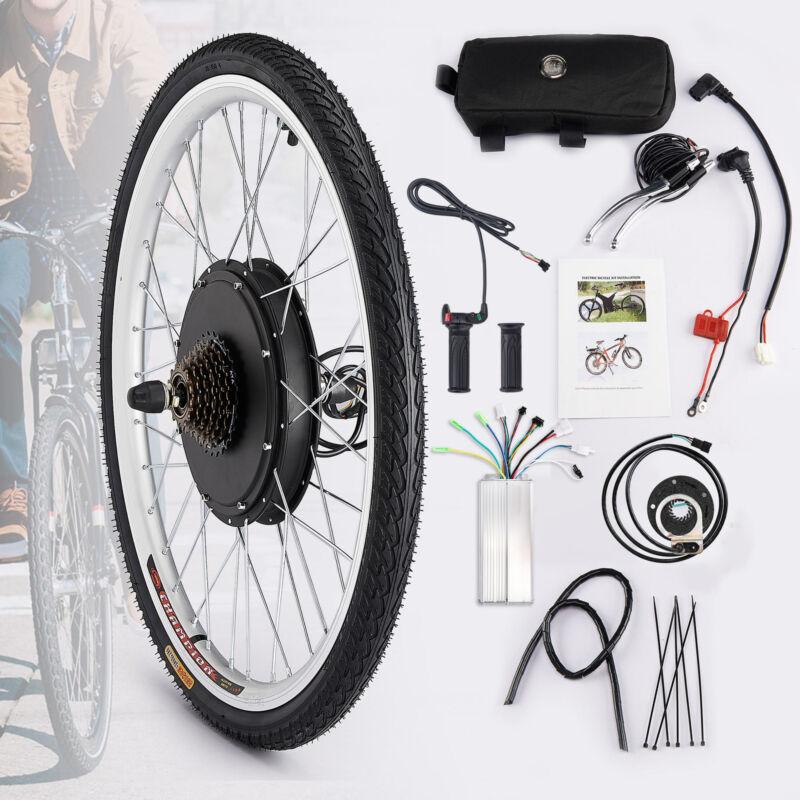 "26"" Hinterrad E Bike Conversion Kit 36V 500W Ebike Elektrofahrrad Umbausatz Kit"
