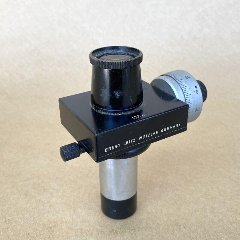 Ernst Leitz Wetzlar Microscope Dial Micrometer 12.5x Eyepiece, NICE