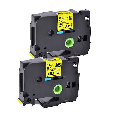 Compatible With Brother Tz-641 Tze-641 34 2pk Yellow Label Tape P-touch