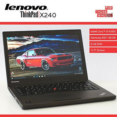 LENOVO ThinkPad X240 / Intel i5 / SSD 128 Gb / 8 Gb / Laptop Ordenador Ultrabook, usado comprar usado  Enviando para Brazil