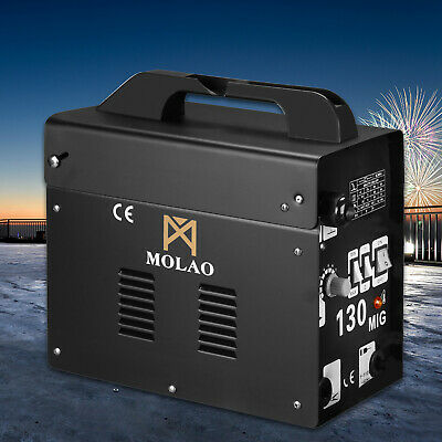 Mig 130 Welder Gas Less Flux Core Wire Automatic Feed Welding Machine Mask Black