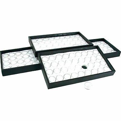 144 White Foam Gem Jars Display & Stackable Tray