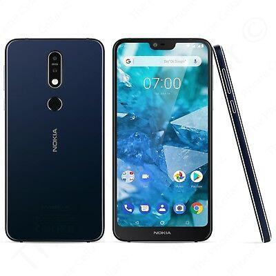 Nokia 7.1 Dual-SIM Android Smartphone 64GB (Blue) TA-1085 GSM Unlocked