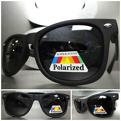 Männer oder Frauen Klassisch Retro-Stil Polarisierend Sonnenbrille Matt Schwarz