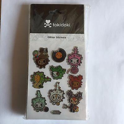 tokidoki Glitter Stickers - cactus pups