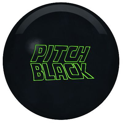 15lb Storm Pitch Black Solid Urethane Bowling Ball For Tough Lane (Storm Pitch Black)