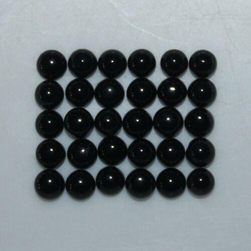 Black Onyx 3mm, 4mm, 5mm, 6mm & 8mm Cabochon Round Loose Gemstones w/ Multi-Qty