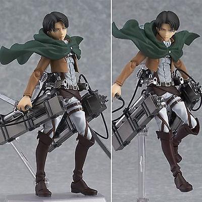 Attack on Titan Shingeki no Kyojin Levi Ackerman Figma Action Figure PVC Toys