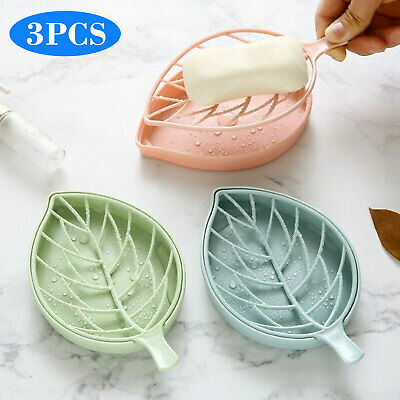 Soap Dish Box Holder Case Container Bath Shower Punch-free For Kitchen Bathroom