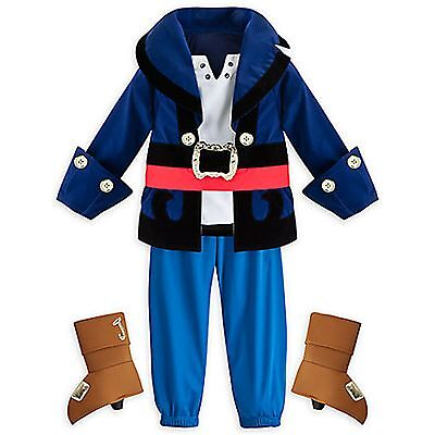 Disney Store Captain Jake Neverland Pirates Costume Boy Halloween 2 3 5/6 - Jake Pirates Halloween