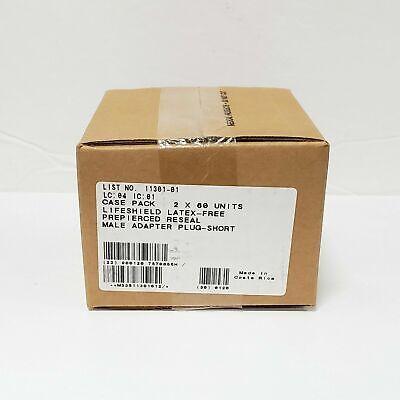 Hospira Lifeshield Prepierced Reseal Male Adapter Plug Short 11301-01 Bx120