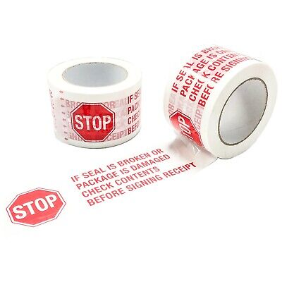 6 Rolls Stop Sign Packing Tape If Seal Is Broken 2 Mil X 3 X 110 Yds