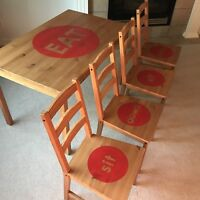 Sit Down Eat table and chairs
