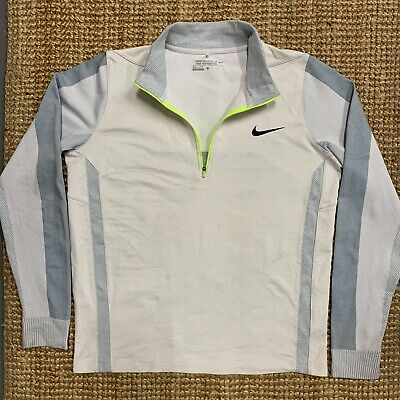 Nike Golf Mens Tour Performance Dri Fit 1/4 Neck Zip Top Jumper Pullover Size S