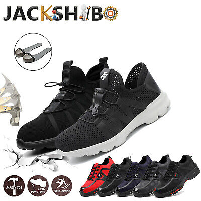 Mens Work Boots Safety Shoes Steel Toe Cap Sneakers Waterproof Climbing (Mens Waterproof Safety Shoes)