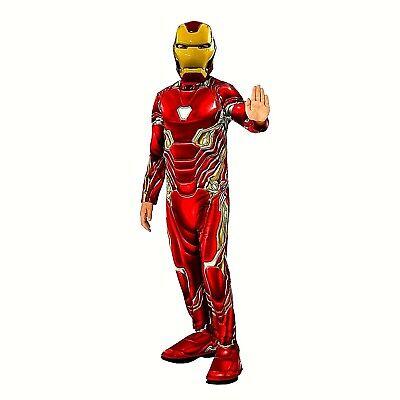 Marvel Avengers Infinity War Iron Man Boys'  Halloween Cosplay Costume NWT