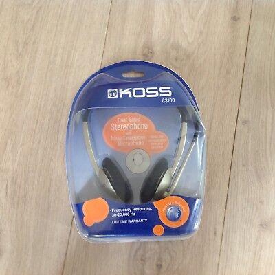 KOSS AUDIO & VIDEO - CS-100 - KOSS STEREO HEADST AND MICROPHONE, neu, OVP Koss Stereo-headset