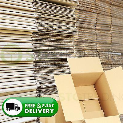 50 x MAILING CARDBOARD BOXES 12x9x6