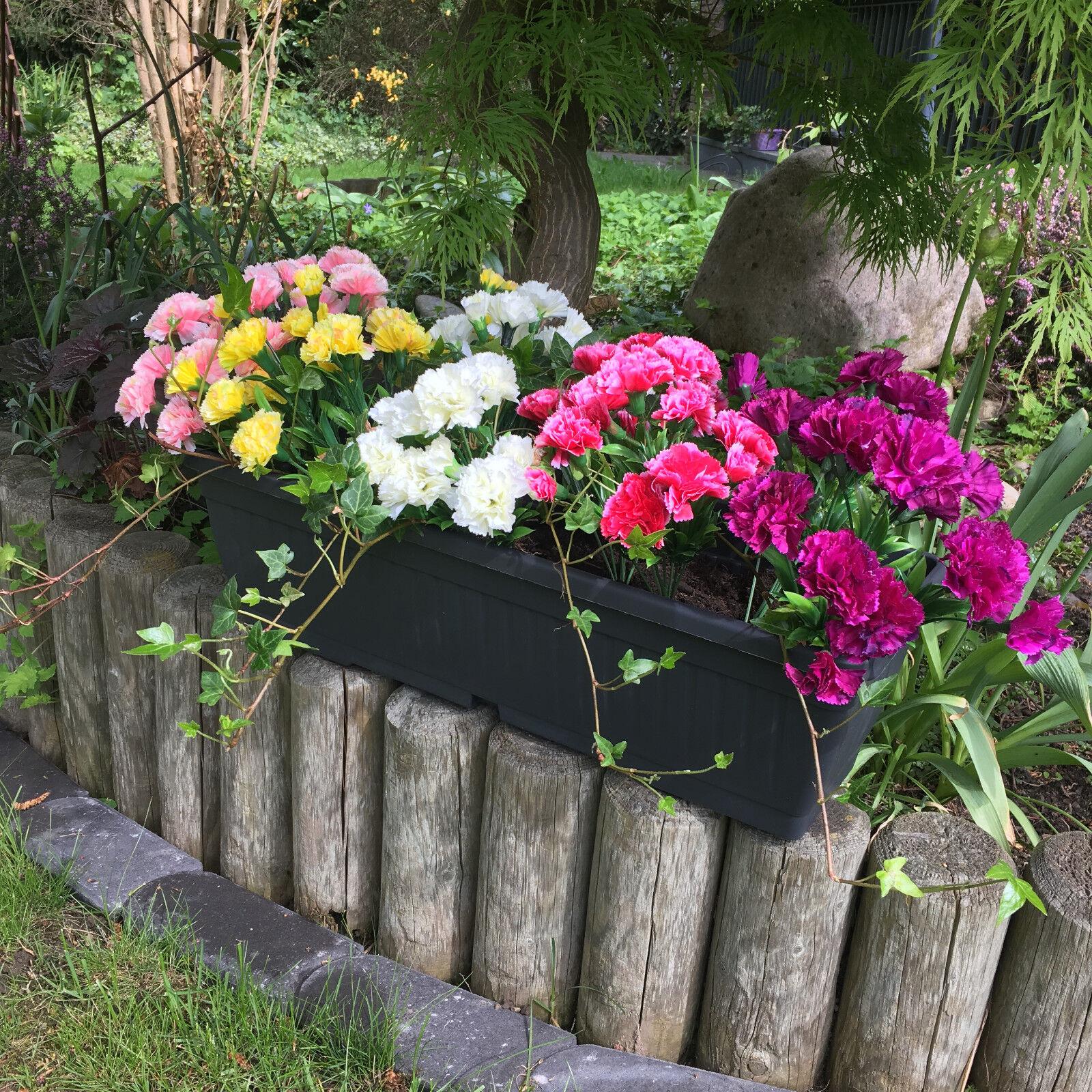 Balkonblumen Carnation Balkon Seidenblumen Kunstblumen Blumen Täuschend echt!