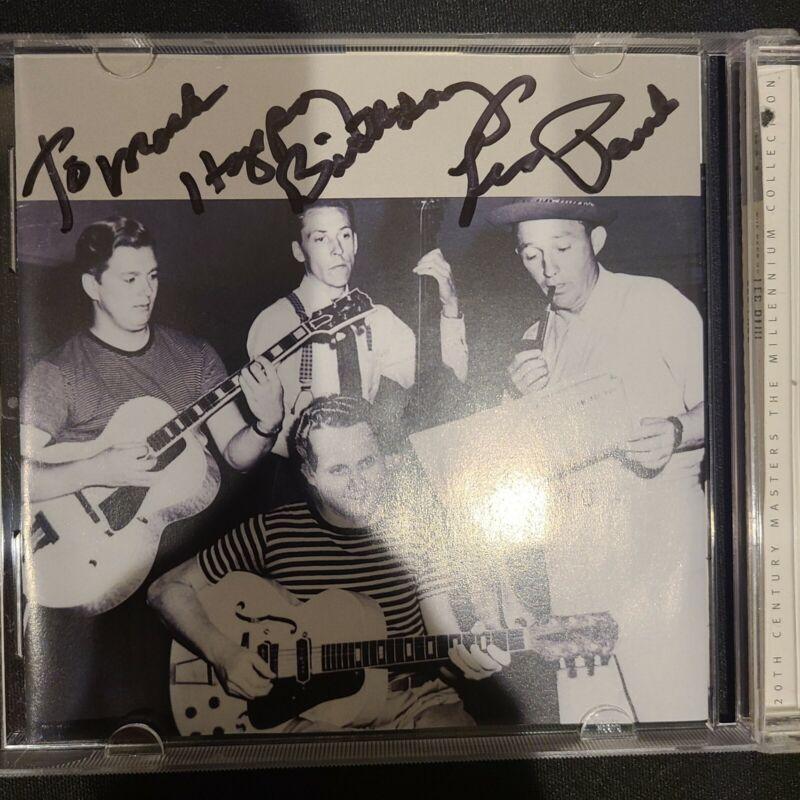 LES PAUL - THE BEST OF LES PAUL CD SIGNED.  AUTOGRAPHED!