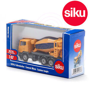 Siku 1896 Scania Cement Mixer Truck Rotating Drum Die-Cast Model Toy 1:87 Scale